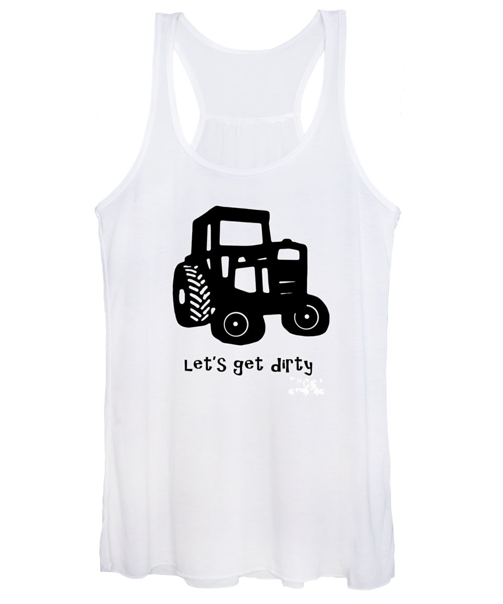 Tractor Women's Tank Top featuring the photograph Let's Get Dirty 2 by Edward Fielding