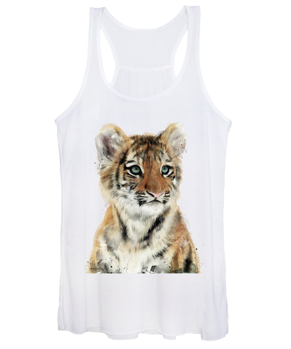 Tiger Women's Tank Top featuring the painting Little Tiger by Amy Hamilton
