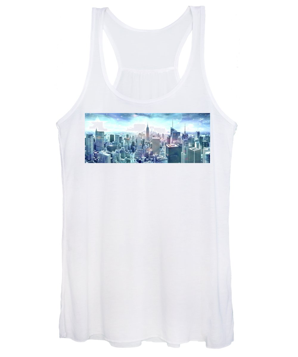 Empire State Building Women's Tank Top featuring the photograph New York Fairytales by Az Jackson
