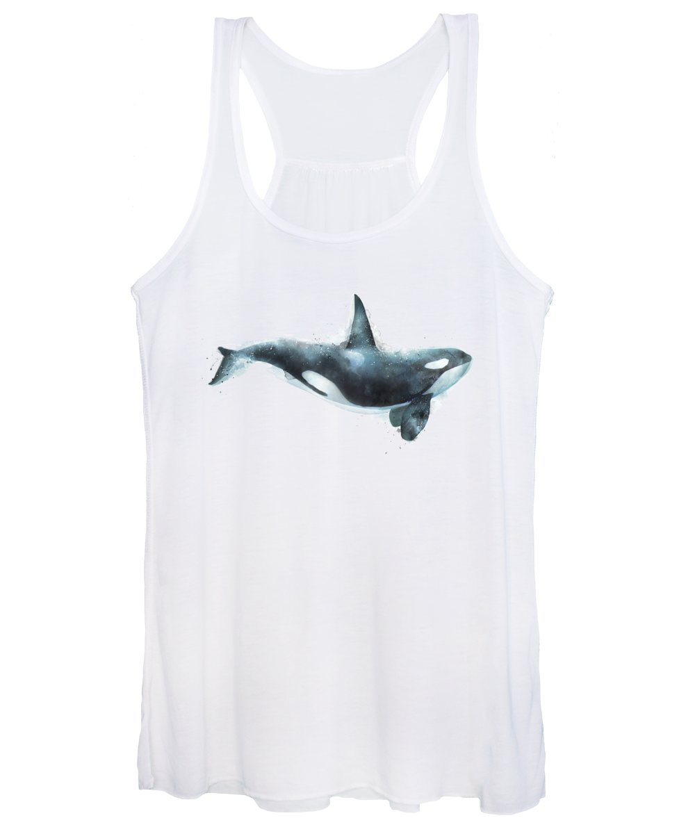 Orca Women's Tank Top featuring the painting Orca by Amy Hamilton