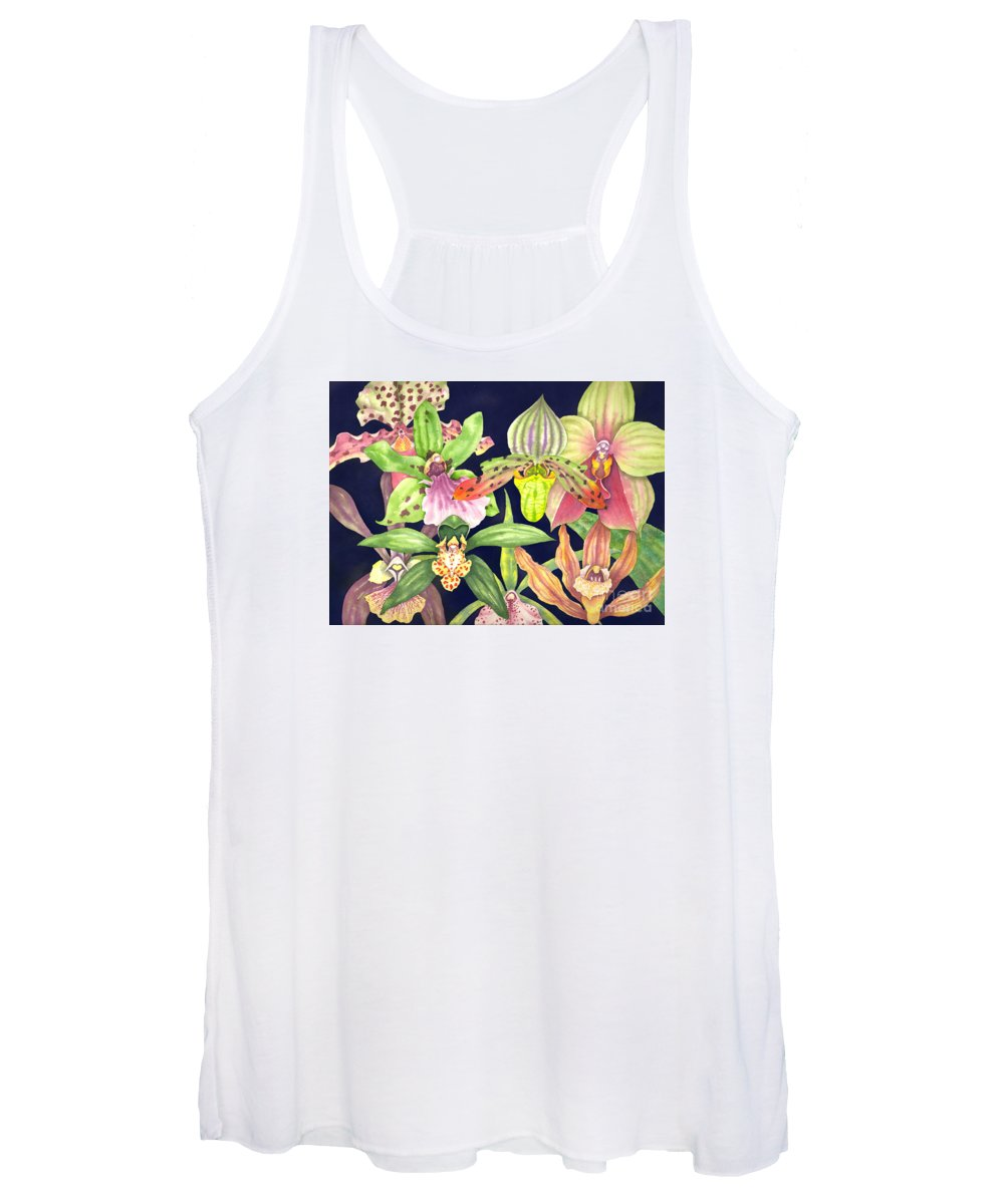Orchids Women's Tank Top featuring the painting Orchids by Lucy Arnold