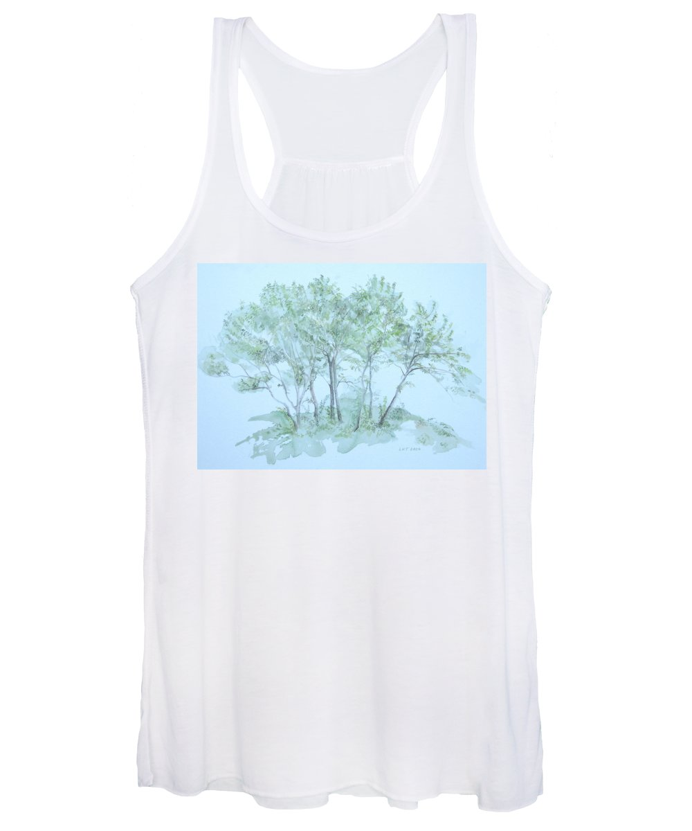 Trees Women's Tank Top featuring the painting Outer Banks by Leah Tomaino
