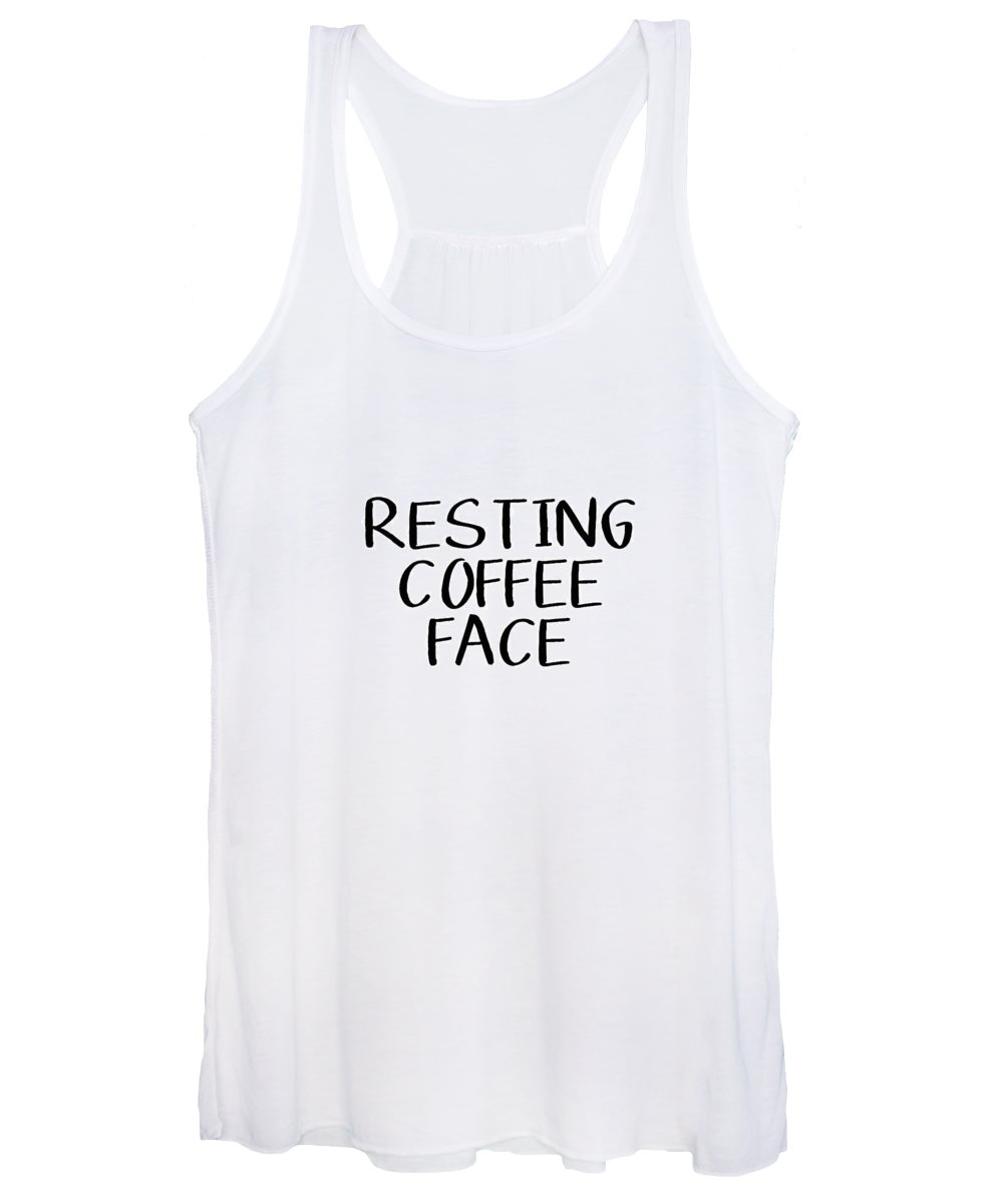 Coffee Women's Tank Top featuring the digital art Resting Coffee Face-Art by Linda Woods by Linda Woods