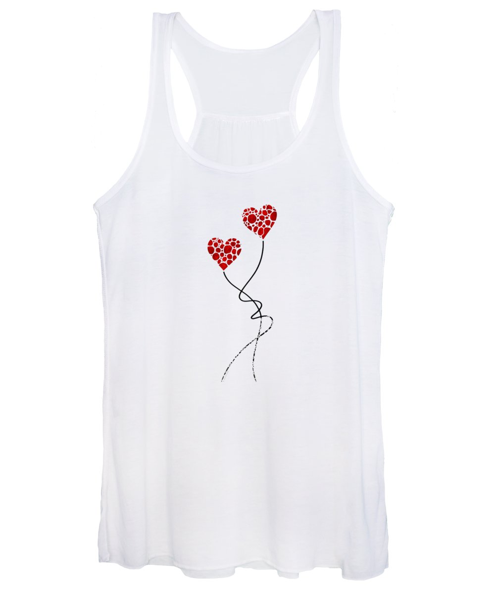 Love Women's Tank Top featuring the painting Romantic Art - You Are The One - Sharon Cummings by Sharon Cummings