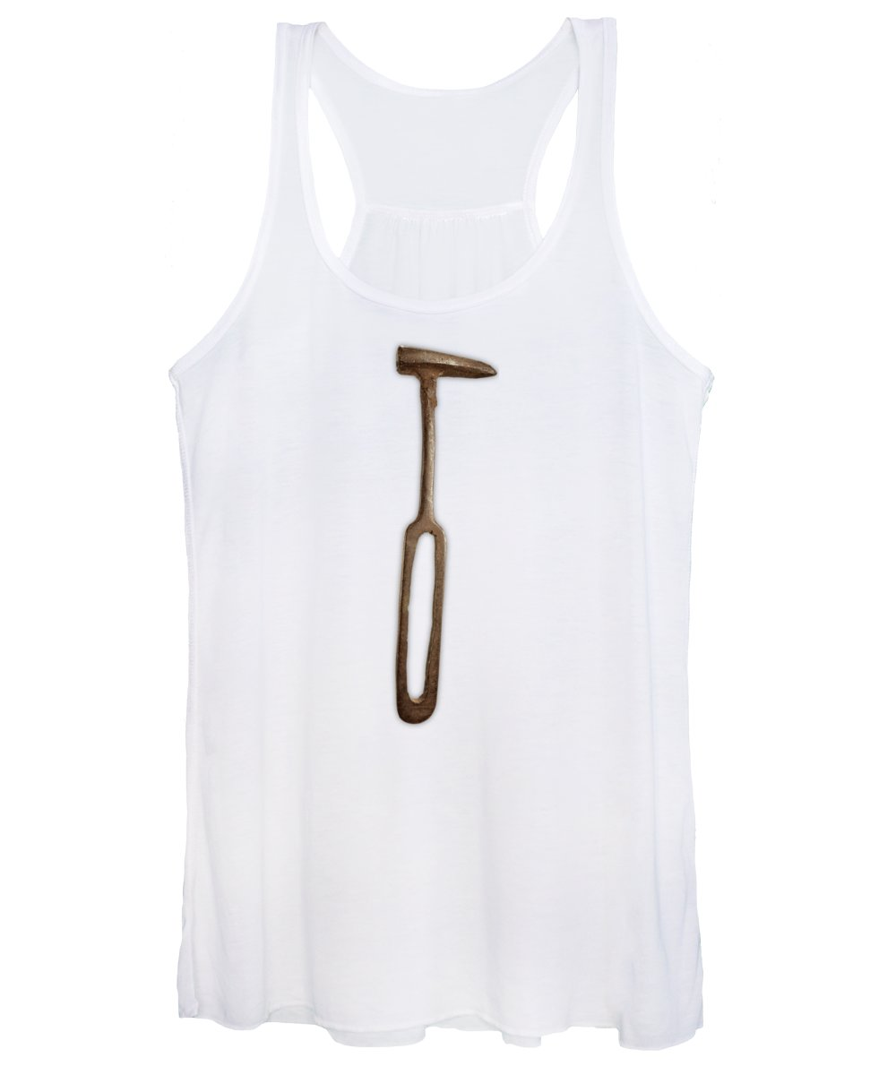 Antique Women's Tank Top featuring the photograph Rustic Hammer On Color Paper by YoPedro