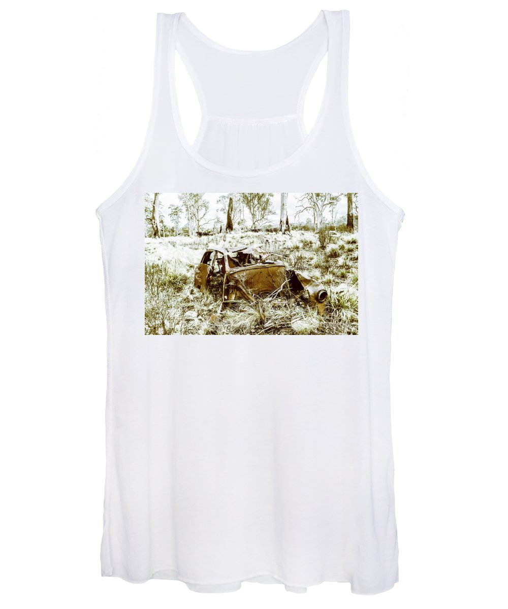 Holden Women's Tank Top featuring the photograph Rusty Old Holden Car Wreck by Jorgo Photography - Wall Art Gallery