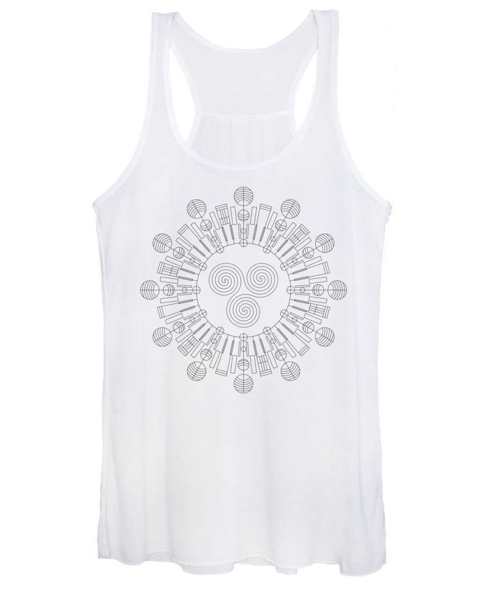 Relief Women's Tank Top featuring the digital art Sky Chief by DB Artist