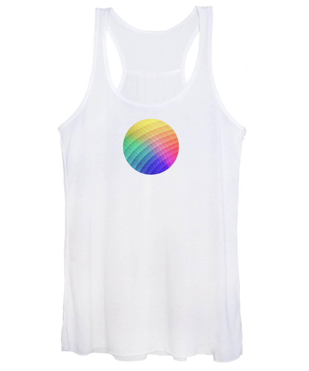 Fruity Women's Tank Top featuring the digital art Spectrum Bomb Fruity Fresh HDR Rainbow Colorful Experimental Pattern by Philipp Rietz