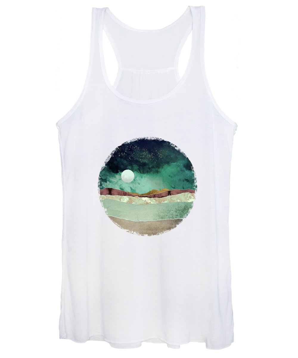 Spring Women's Tank Top featuring the digital art Spring Night by Katherine Smit