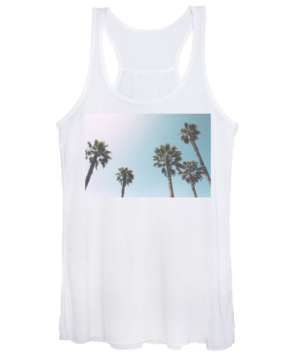 Palm Trees Women's Tank Top featuring the photograph Summer Sky- by Linda Woods by Linda Woods