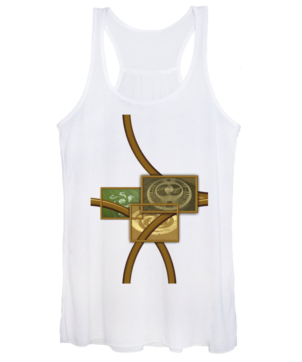 Fantasy Women's Tank Top featuring the digital art The World Of Crop Circles By Pierre Blanchard by Esoterica Art Agency