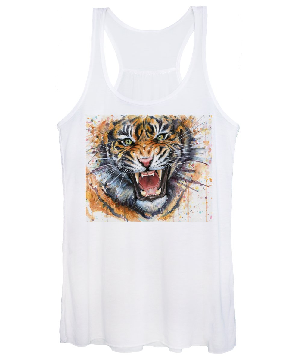 Angry Paintings Women's Tank Tops