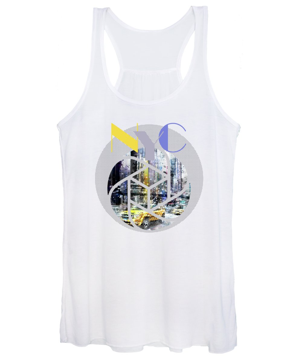 New York City Women's Tank Top featuring the photograph Trendy Design New York City Geometric Mix No 3 by Melanie Viola