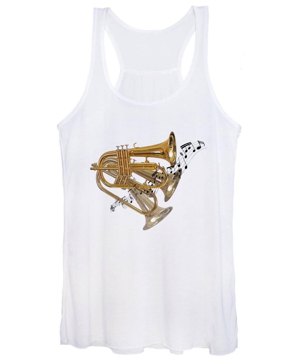 Music Women's Tank Top featuring the photograph Trumpet Fanfare by Gill Billington