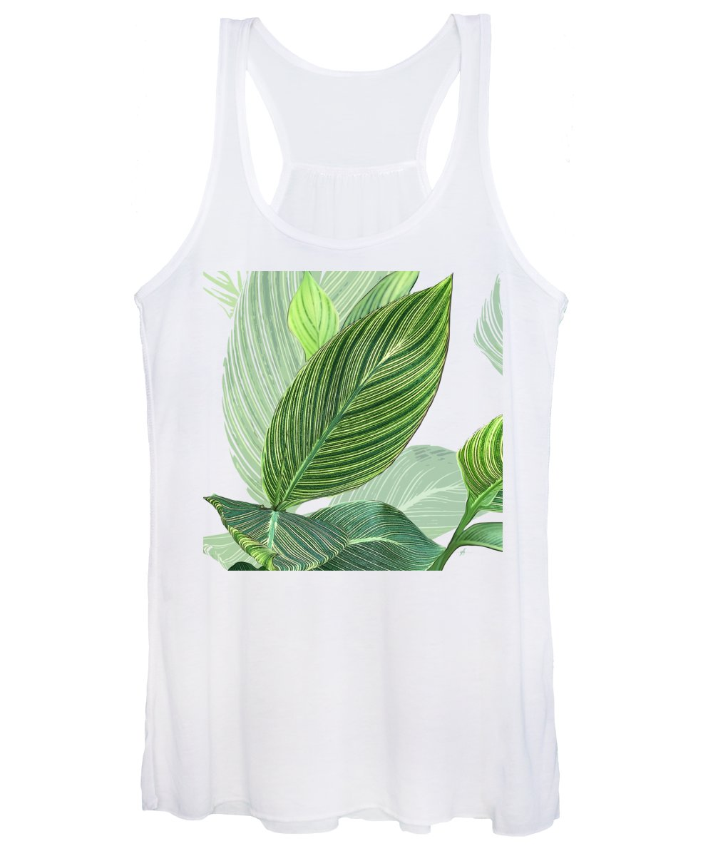 Foliage Women's Tank Top featuring the digital art Variegated by Gina Harrison