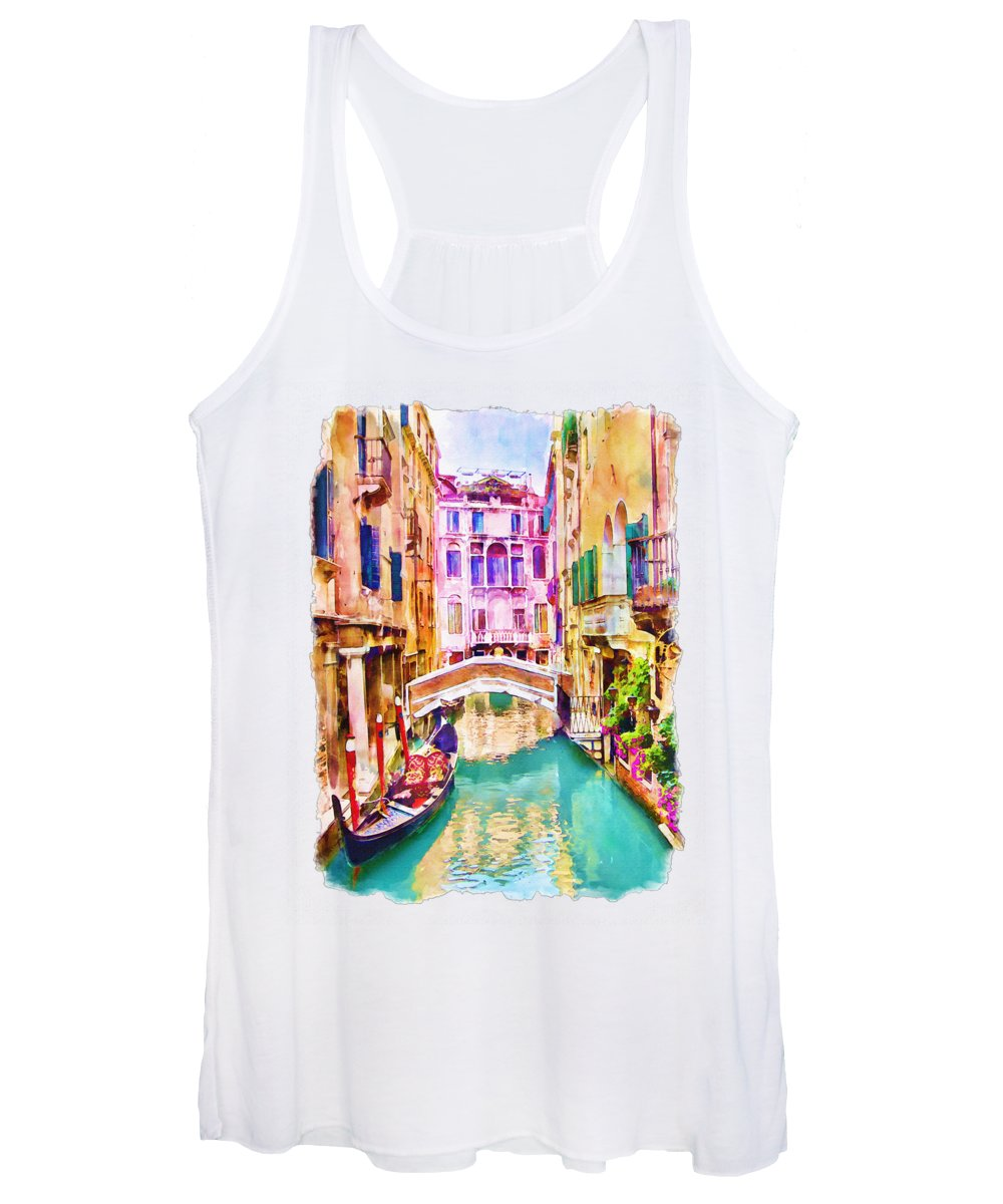 Balcony Mixed Media Women's Tank Tops