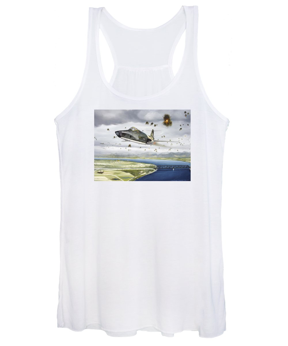 Military Women's Tank Top featuring the painting Voodoo Vs The Dragon by Marc Stewart