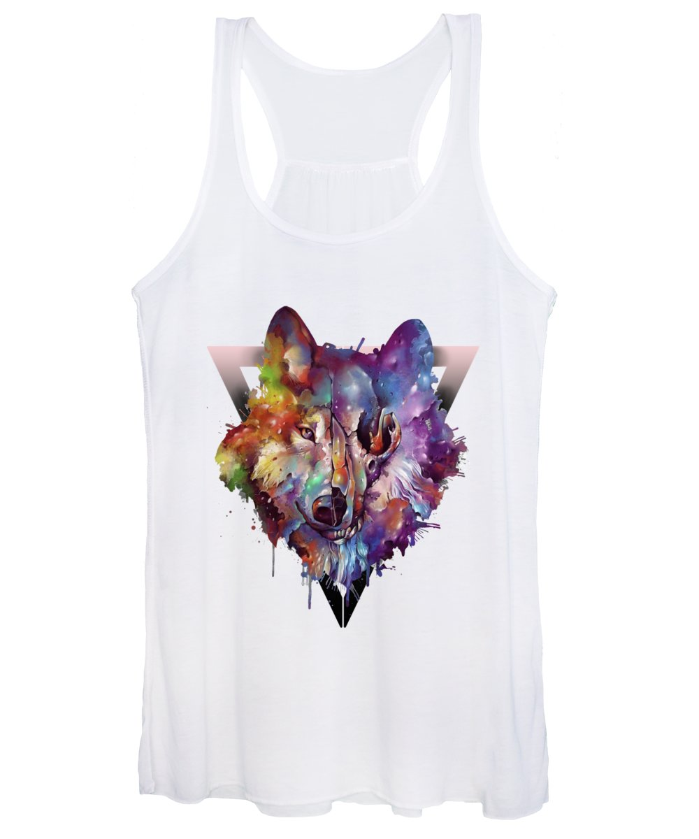 Pine Tree Digital Art Women's Tank Tops