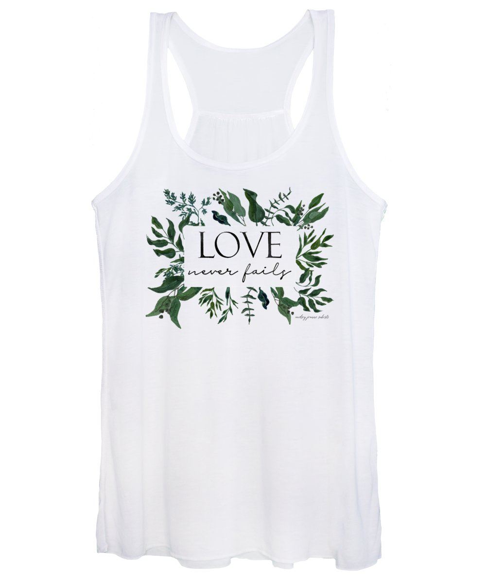 Forest Women's Tank Top featuring the painting Emerald Wild Forest Foliage 2 Watercolor by Audrey Jeanne Roberts