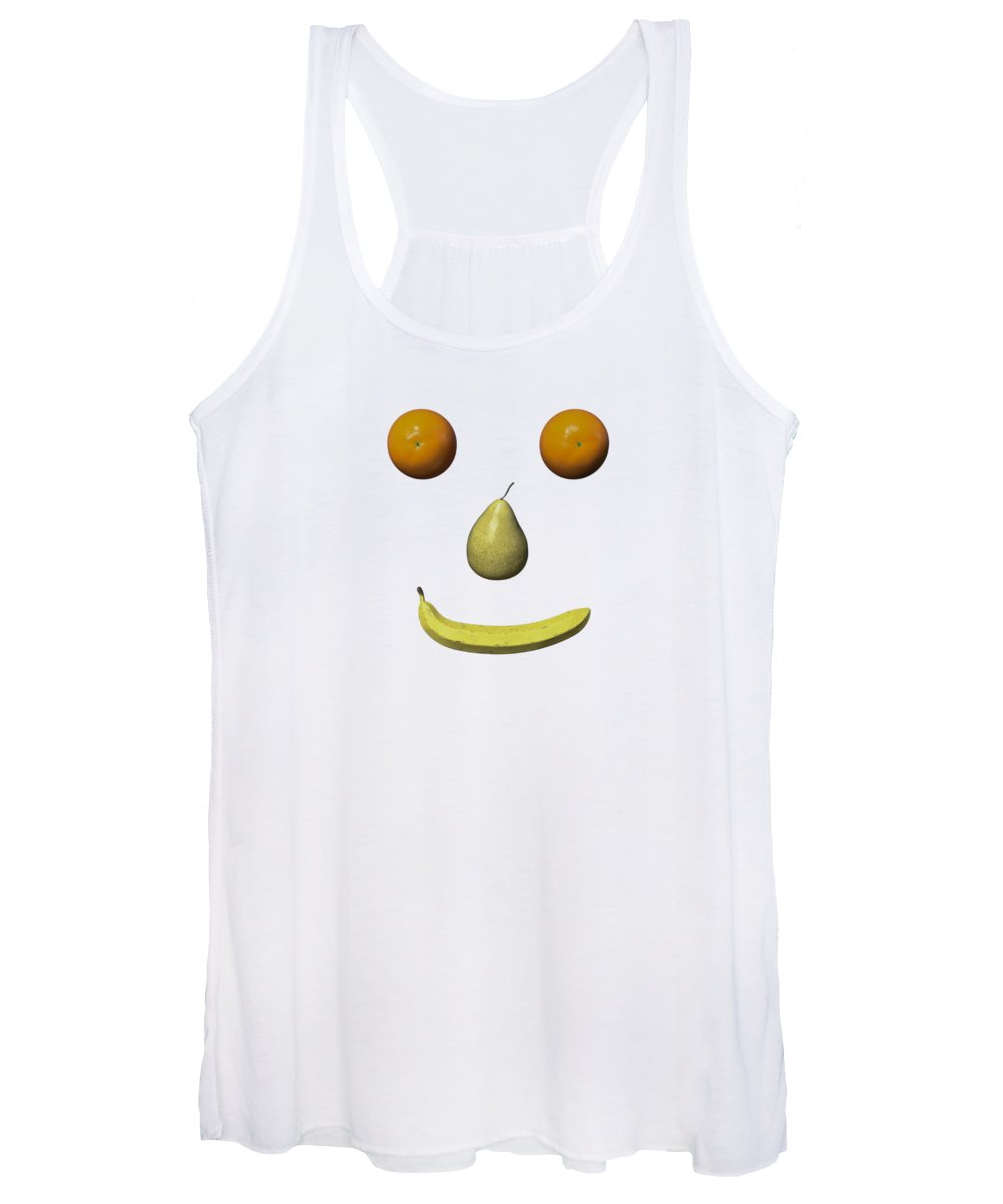 Fruit Women's Tank Top featuring the digital art Feeling Fruity Smile Png by Betsy Knapp