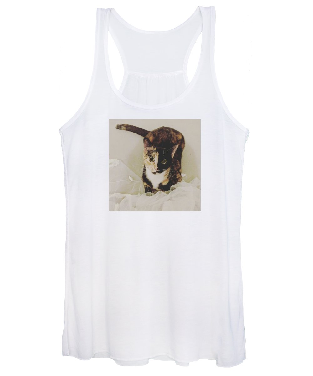 Cute Cat Women's Tank Tops
