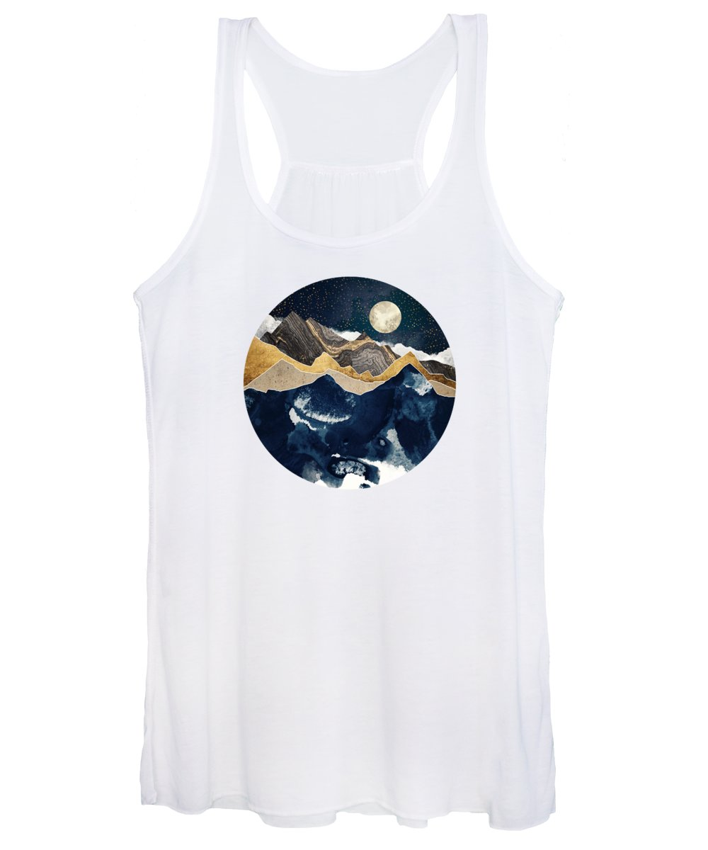 Winter Women's Tank Top featuring the digital art Midnight Winter by Spacefrog Designs