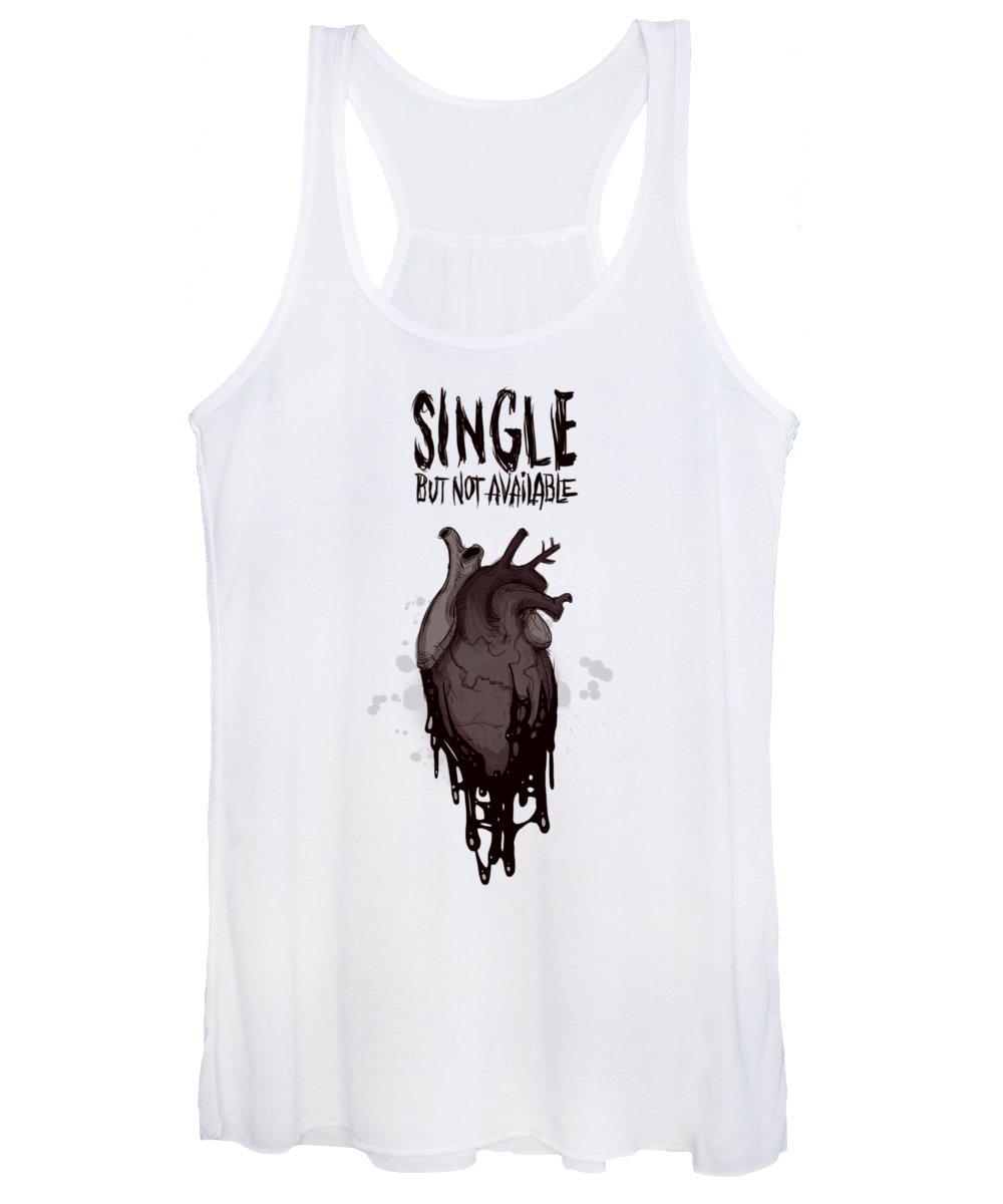 Single Women's Tank Top featuring the drawing Single by Ludwig Van Bacon