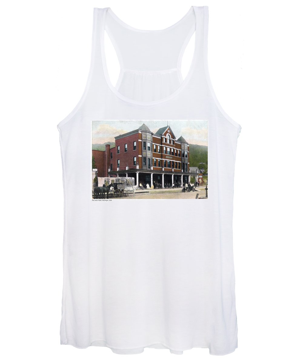 Lewis Hotel Women's Tank Top featuring the photograph The Lewis Hotel by Greg Joens
