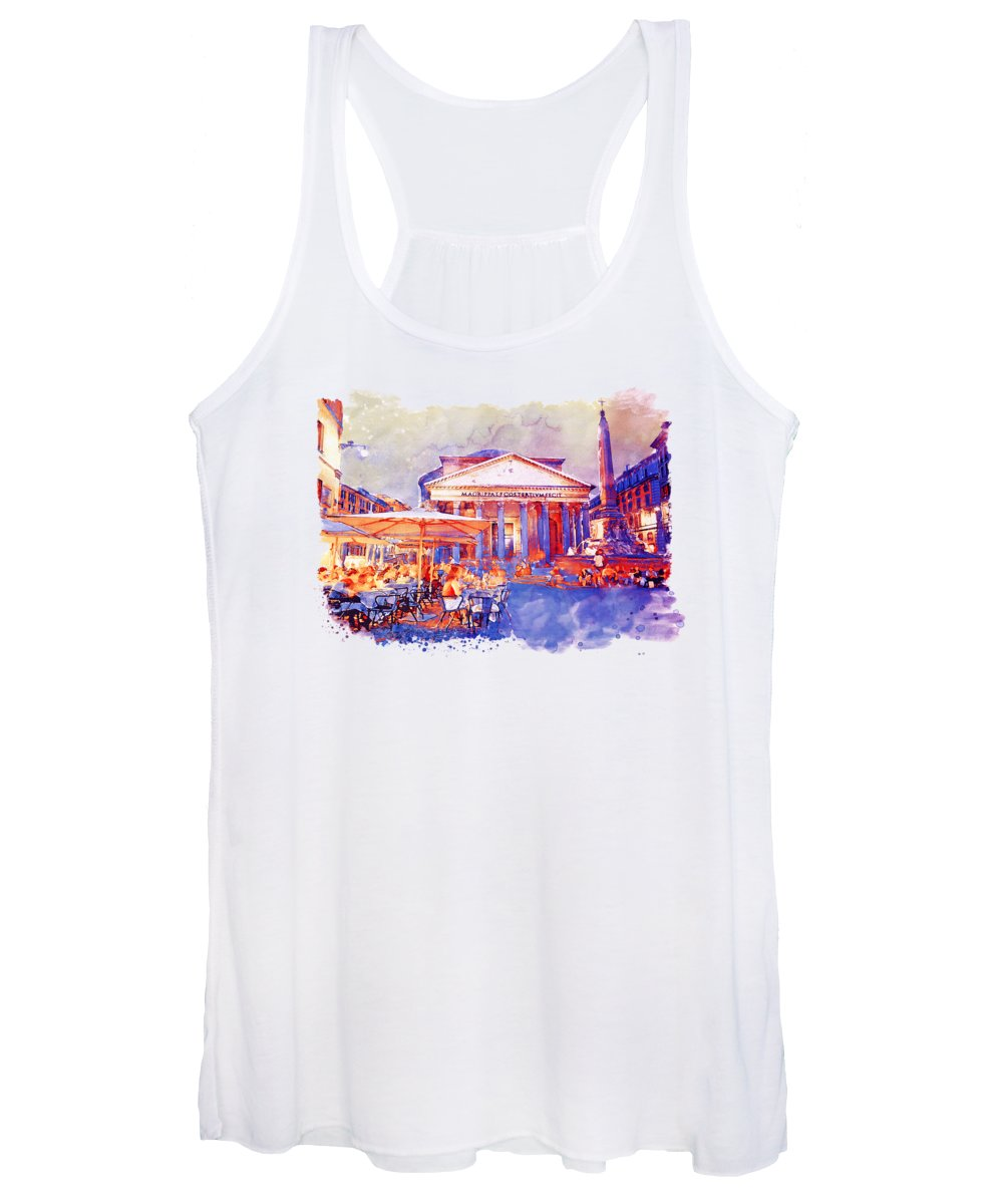 Italy Paintings Women's Tank Tops