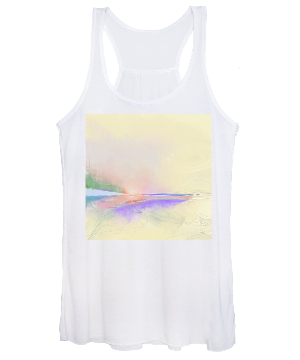 Abstract Women's Tank Top featuring the digital art Unconventional by Gina Harrison