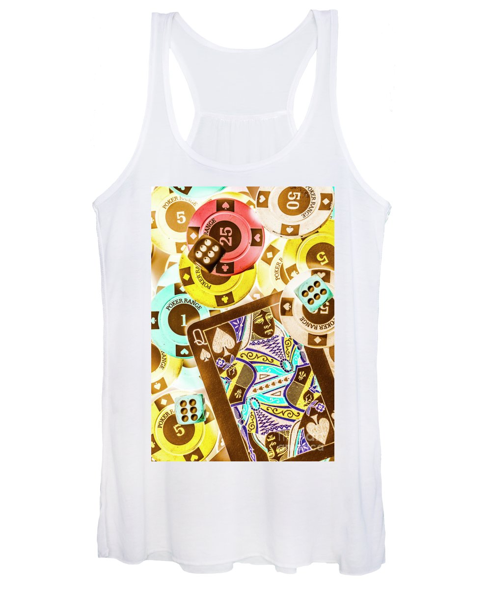 Royal Flush Women's Tank Top featuring the photograph We've Been Played by Jorgo Photography - Wall Art Gallery