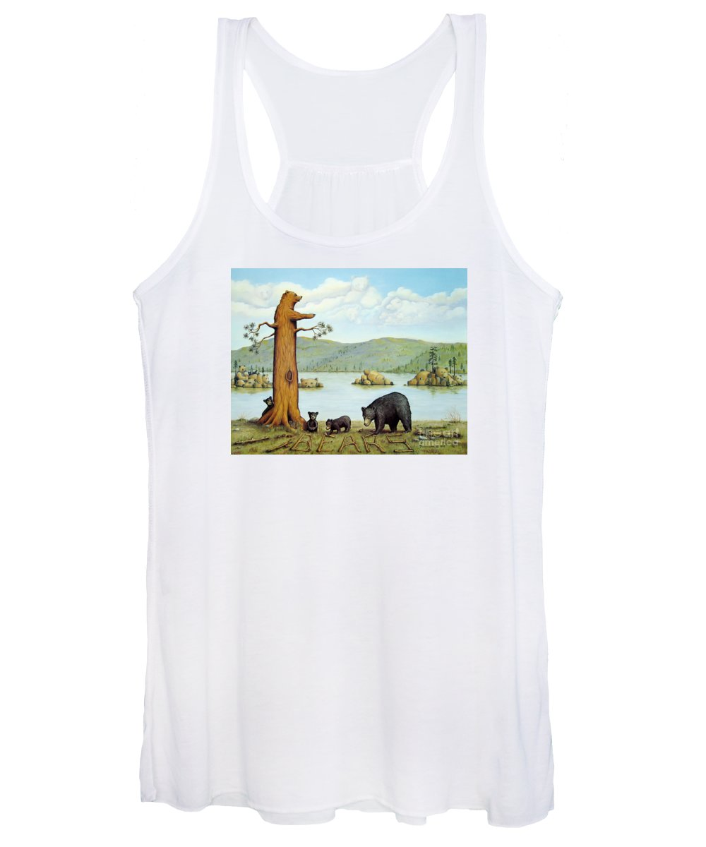 Bears Women's Tank Top featuring the painting 27 Bears by Jerome Stumphauzer