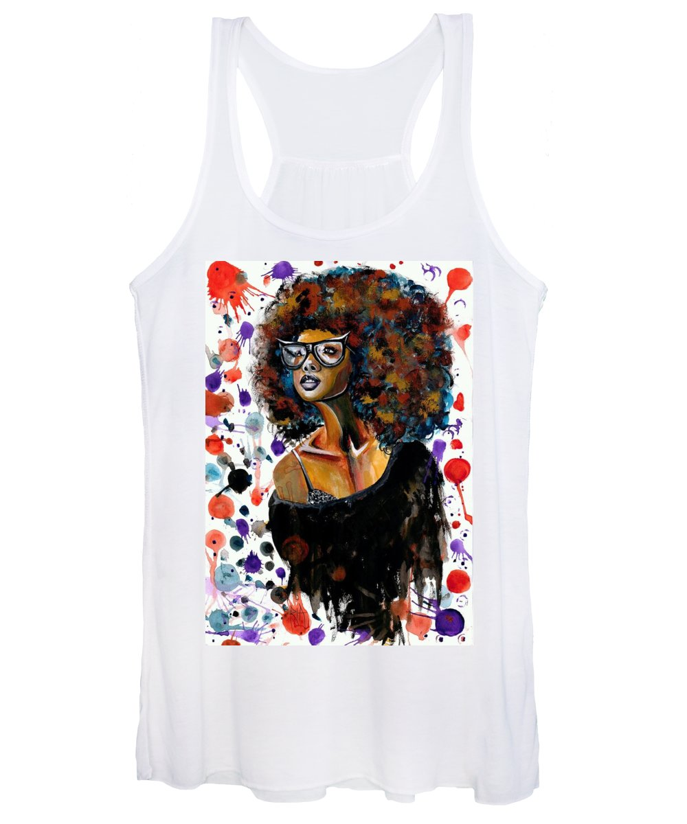 Sexy Women's Tank Top featuring the painting Dope Chic by Artist RiA
