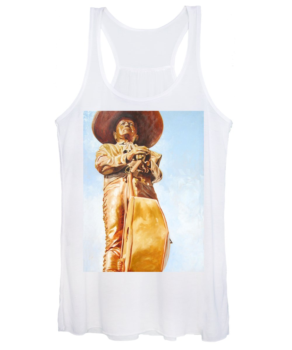 Mariachi Women's Tank Top featuring the painting Mariachi by Laura Pierre-Louis