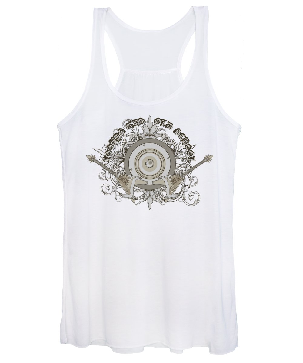 Music Women's Tank Top featuring the digital art Old School by Jacob Zelazny