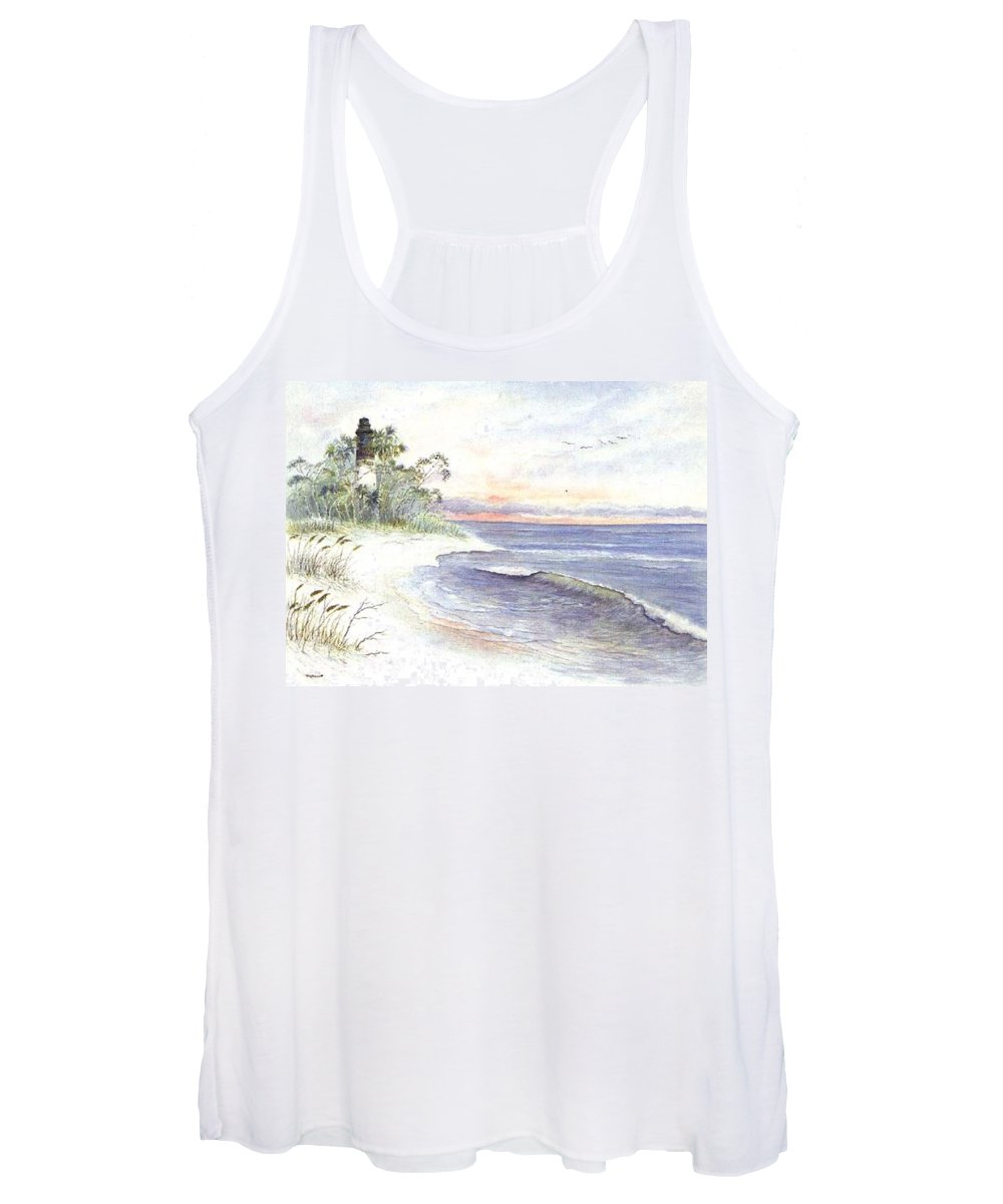 Lighthouse Women's Tank Top featuring the painting Solitude by Ben Kiger