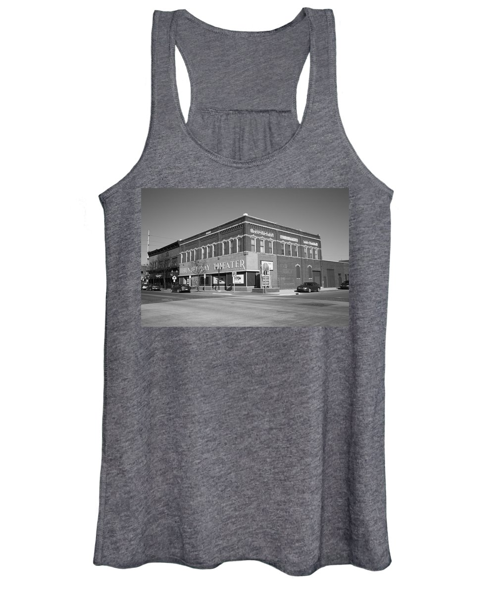Acting Women's Tank Top featuring the photograph Alpena Michigan - Thunder Bay Theatre by Frank Romeo