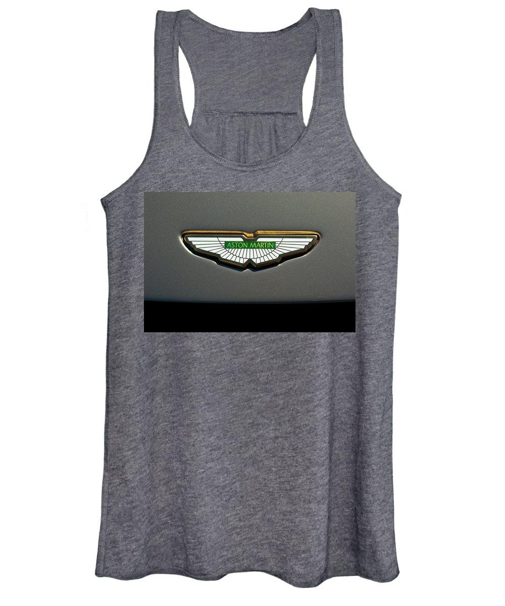 Aston Martin Logos Women's Tank Top featuring the photograph Aston Martin Emblem by Jill Reger