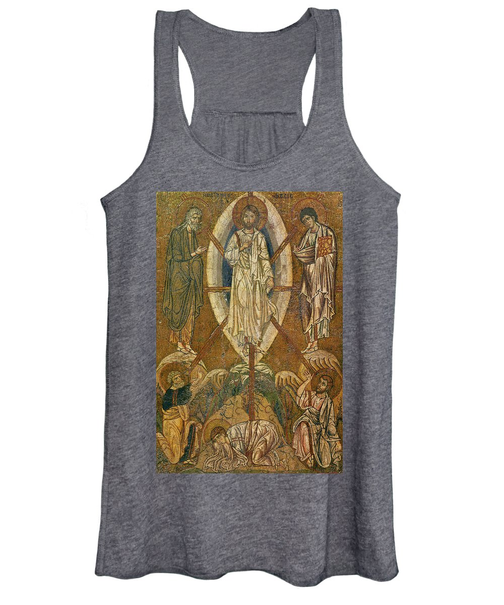 Mosaic Women's Tank Top featuring the painting Byzantine Icon Depicting The Transfiguration by Byzantine School
