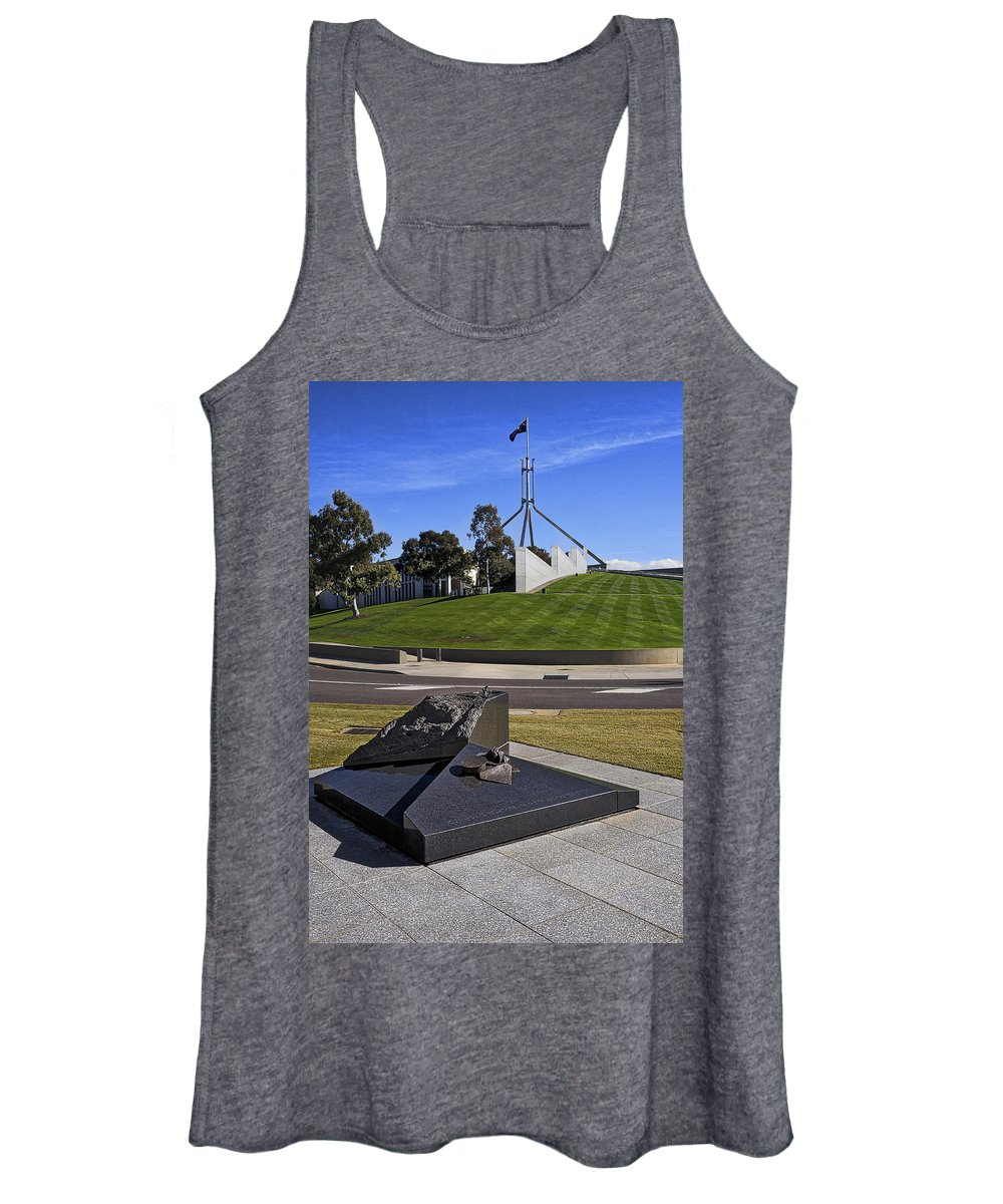 Australia Women's Tank Top featuring the photograph Canberra - Memorial And Parliament House by Steven Ralser