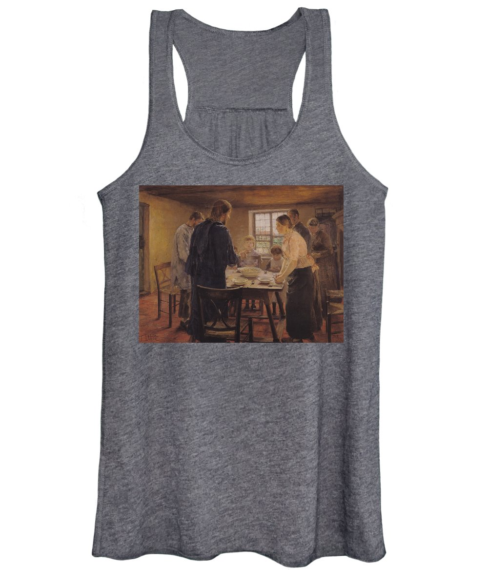 Revelation Women's Tank Top featuring the painting Christ With The Peasants by Fritz von Uhde