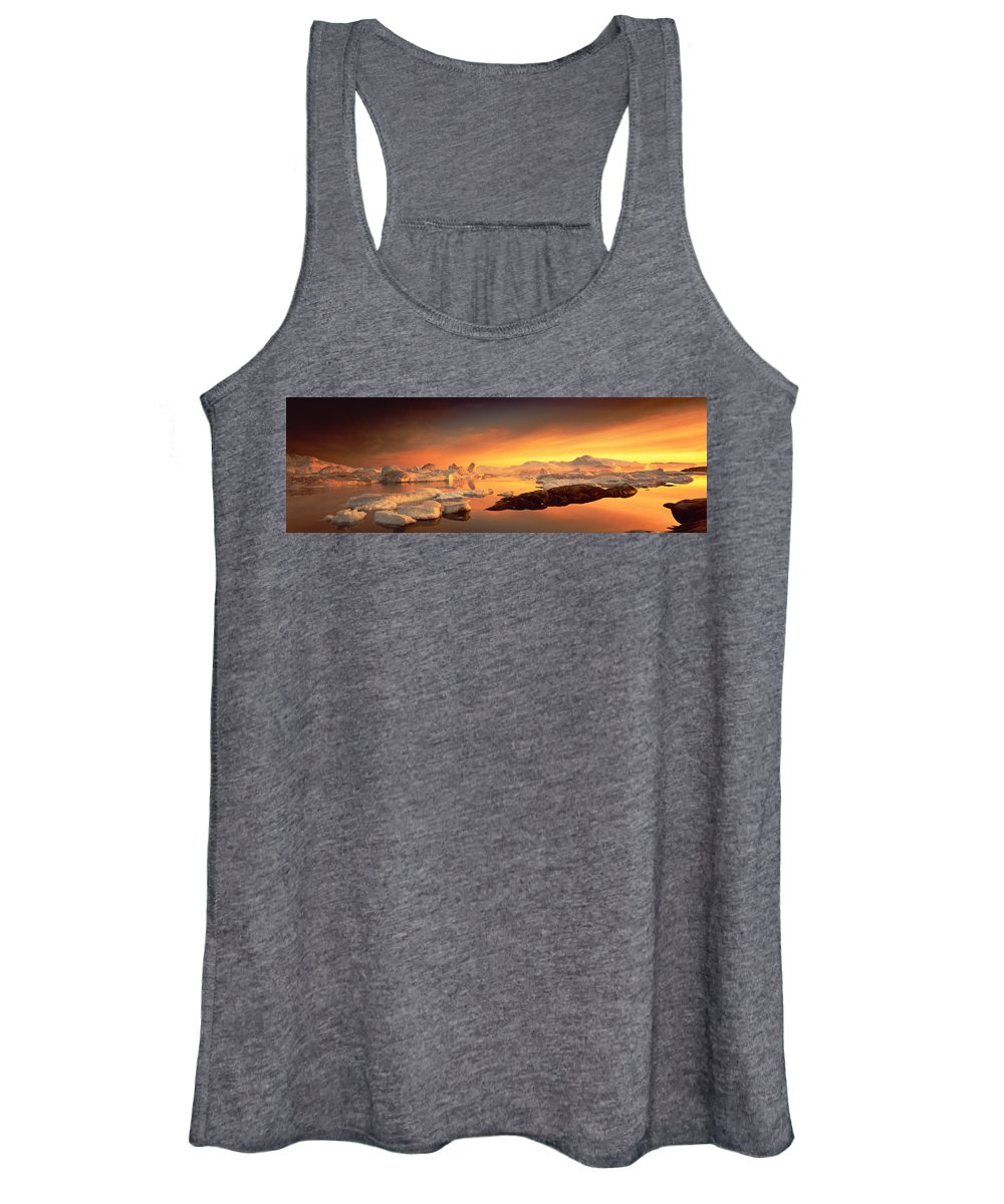 Photography Women's Tank Top featuring the photograph Disko Bay, Greenland by Panoramic Images