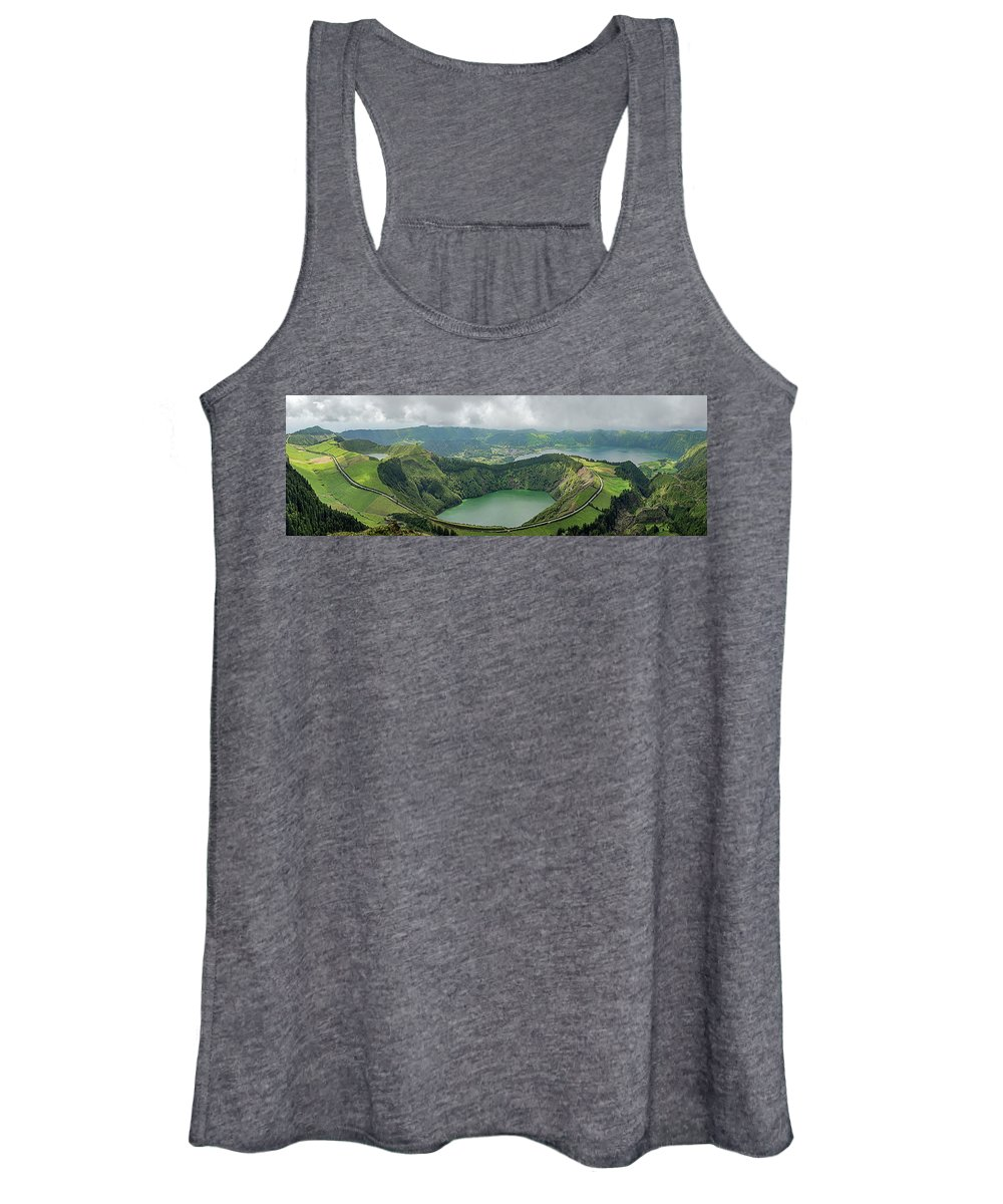 Photography Women's Tank Top featuring the photograph Elevated View Of Stratovolcanic by Panoramic Images