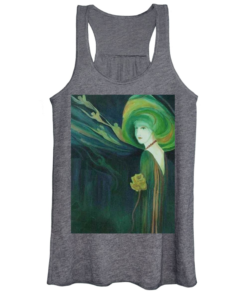 Women Women's Tank Top featuring the painting My Haunted Past by Carolyn LeGrand