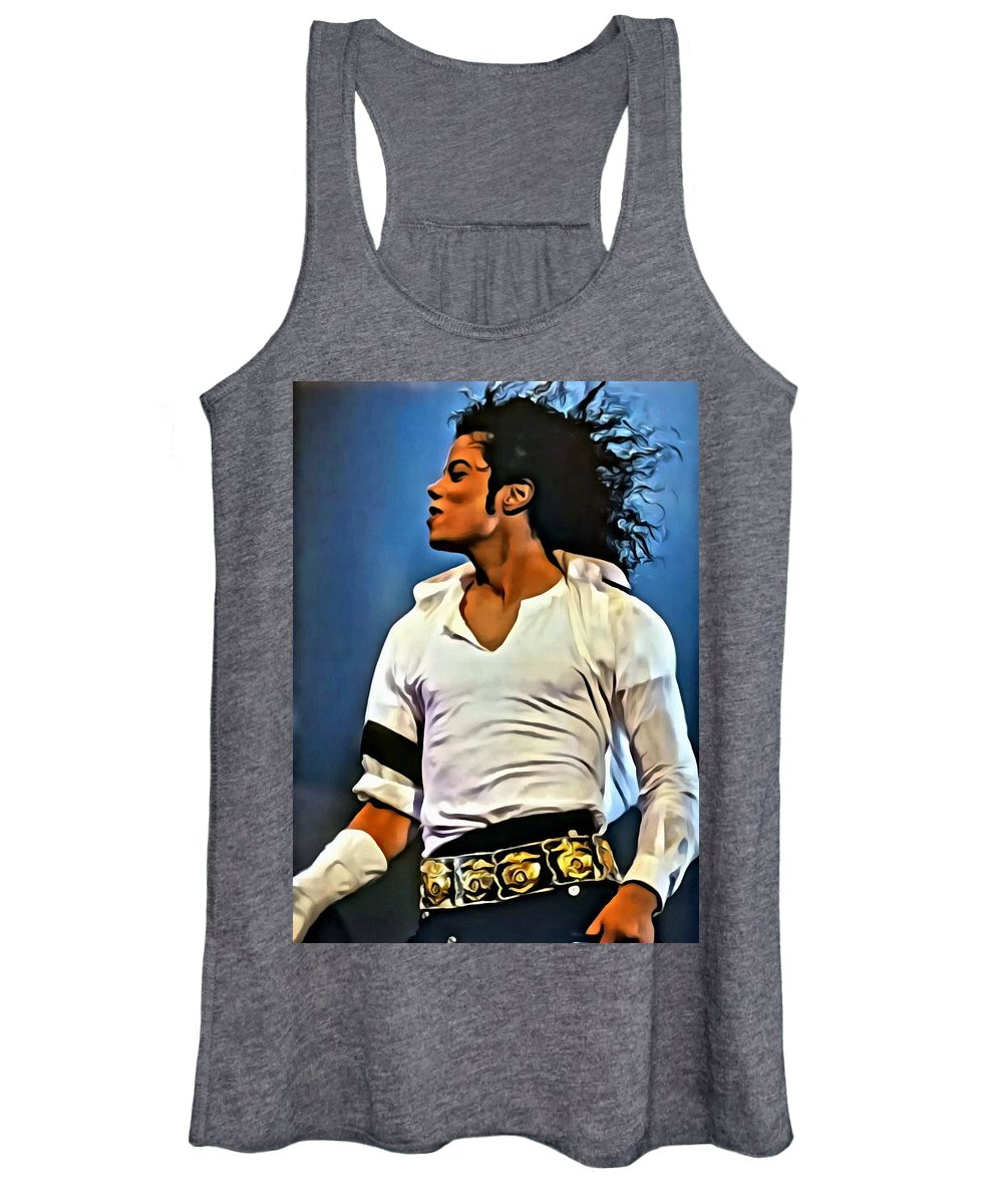 Michael Jackson Women's Tank Top featuring the painting Just Michael by Florian Rodarte