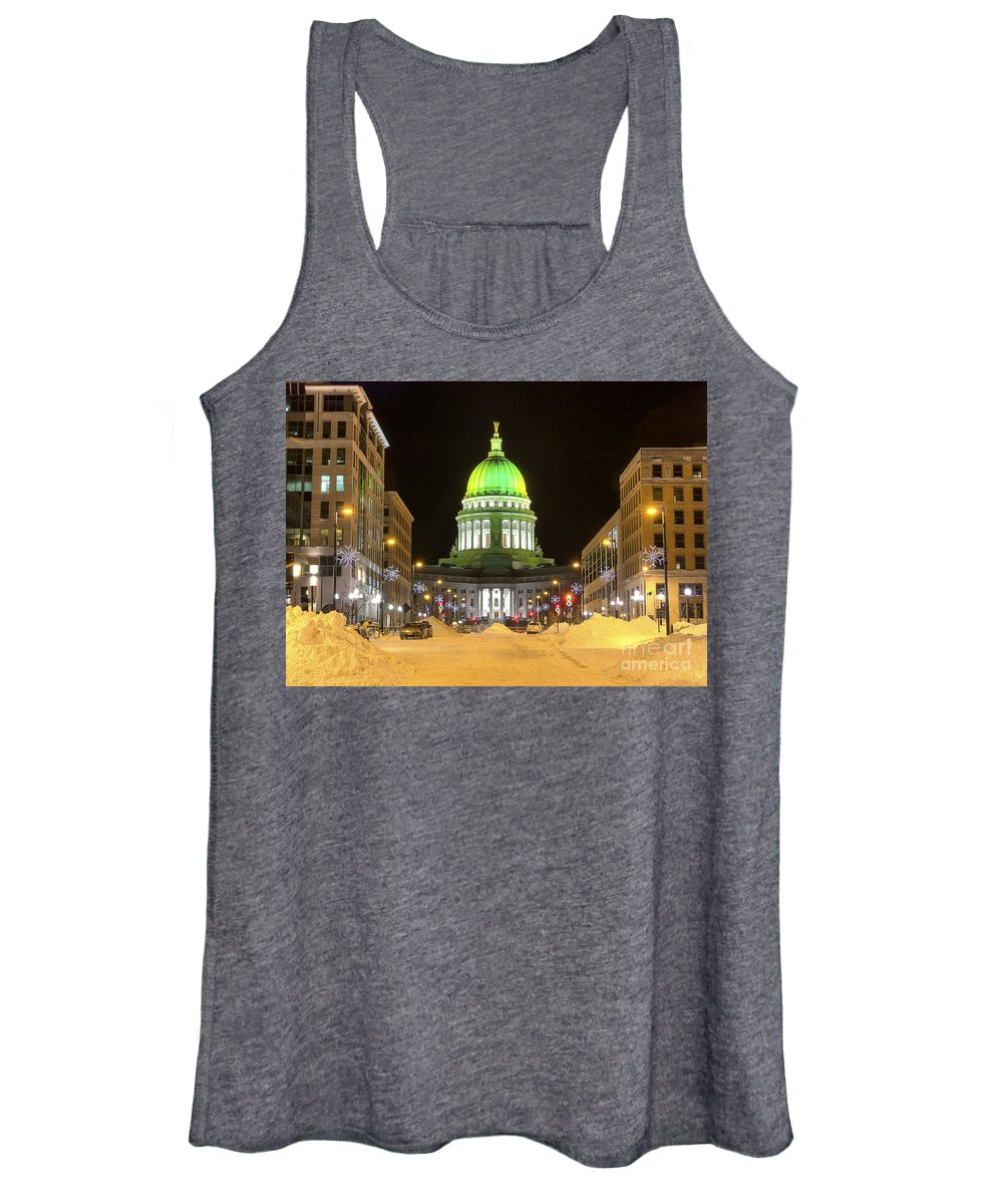 Capitol Women's Tank Top featuring the photograph Madison Capitol by Steven Ralser