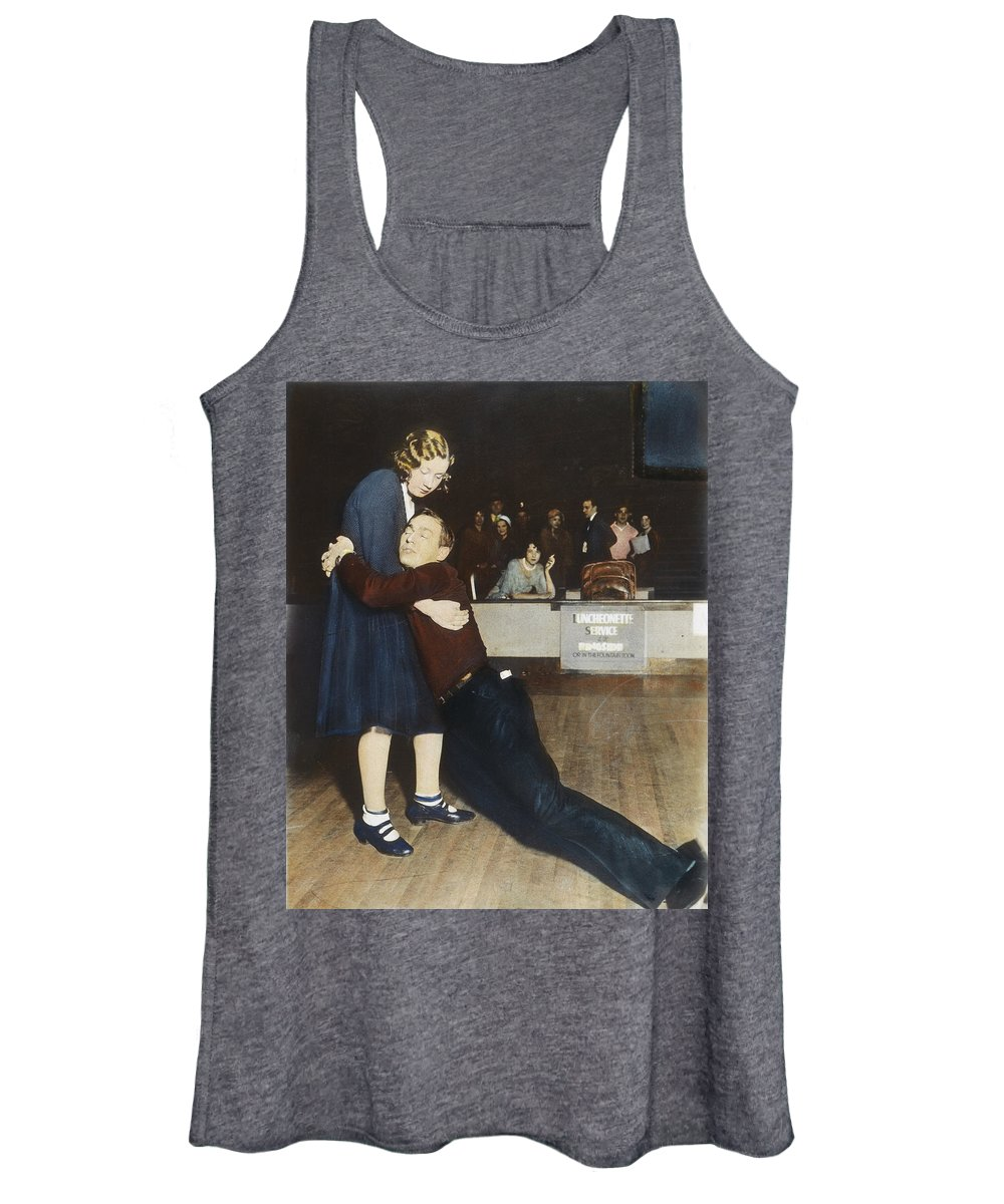 1930 Women's Tank Top featuring the photograph Marathon Dancers, 1930s by Granger