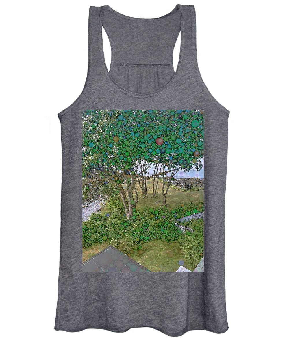 Nature Women's Tank Top featuring the photograph Dawn at Peaks Island Bay by Nick Heap