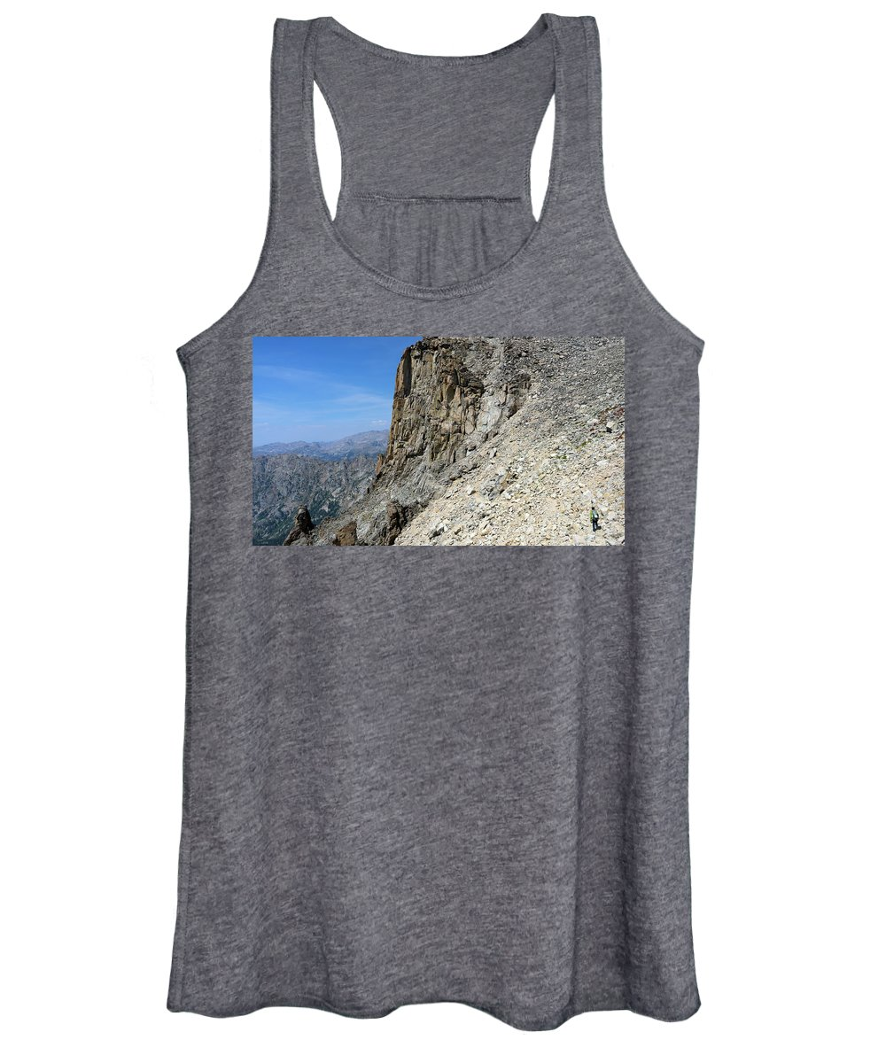 Colorado Women's Tank Top featuring the photograph Person Walking Up Steep Stony by Bennett Barthelemy