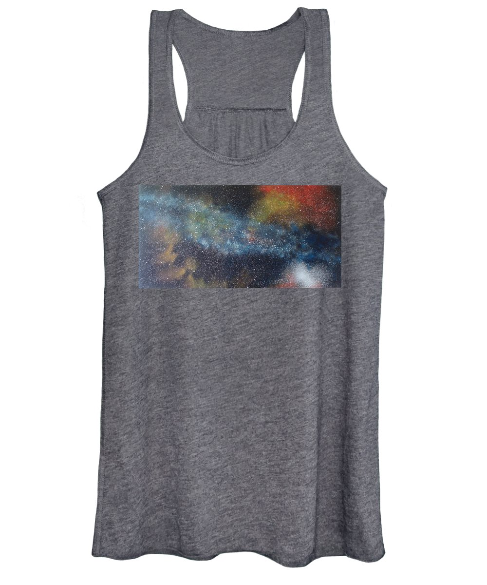 Oil Painting On Canvas Women's Tank Top featuring the painting Stargasm by Sean Connolly